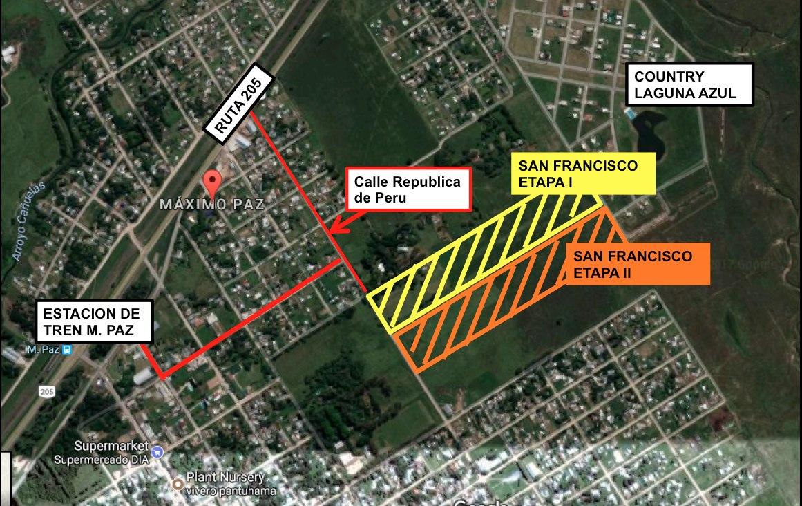 emprendimiento loteo barrio san francisco - lotes sin expensas - terrenos terreno cañuelas y ezeiza