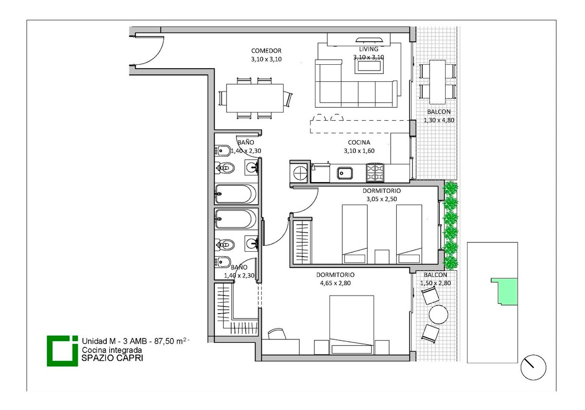 emprendimiento spazio capri - edif.  de categoria