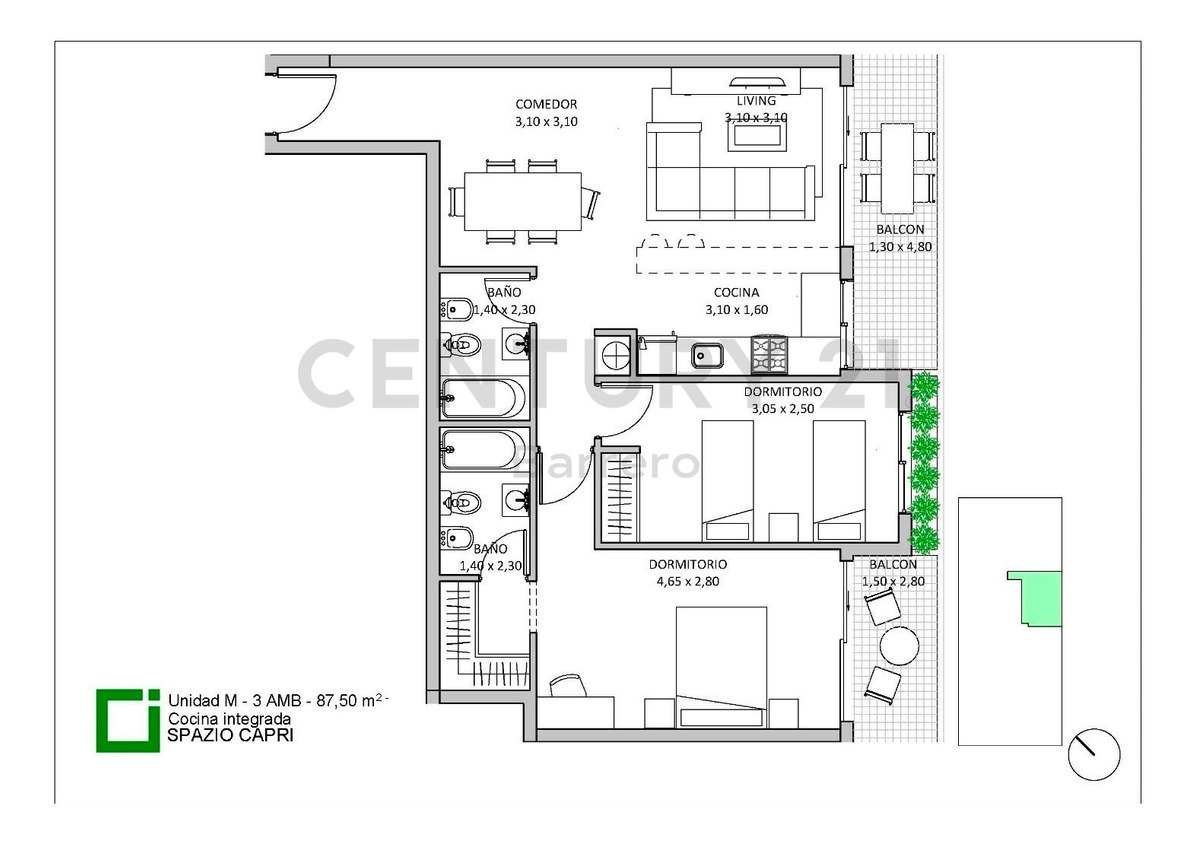 emprendimiento spazio capri - edif.  de categoria - minimo ant. y ctas en pesos