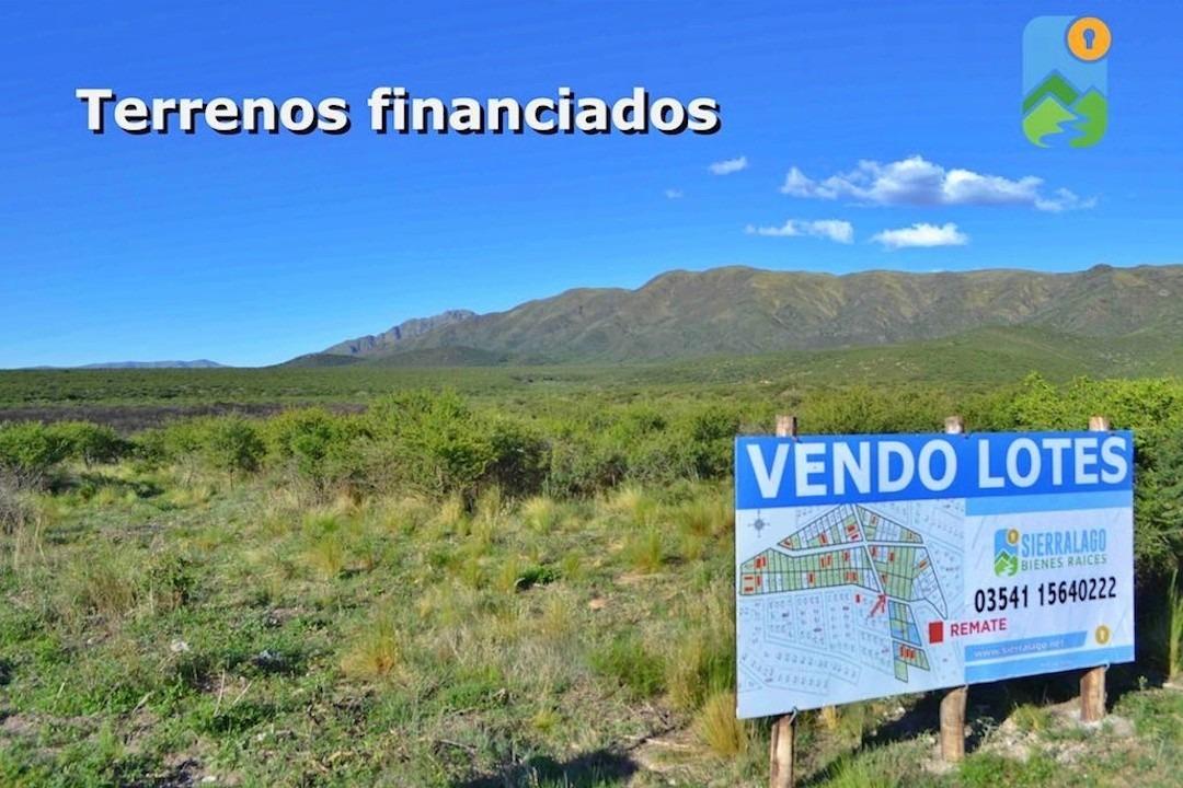 emprendimiento terrenos financiados en los cocos, córdoba. sierralago bienes raíces