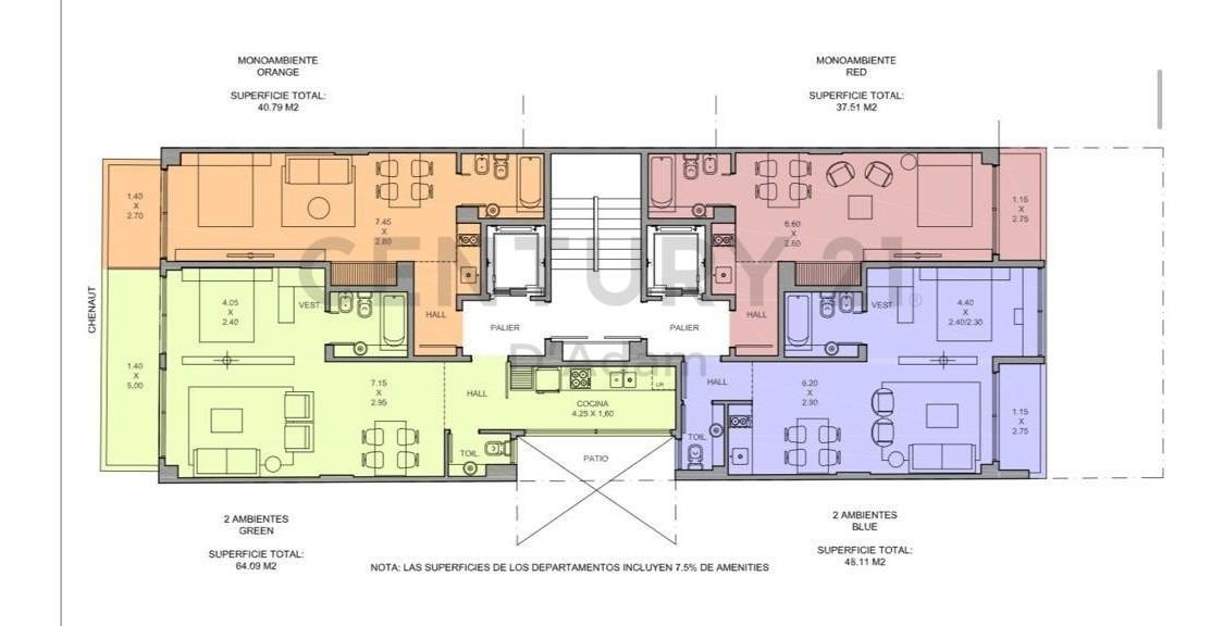 emprendimiento townhouse - chenaut 1700, cañitas