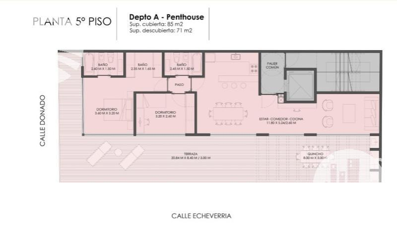 emprendimiento urban syle plaza / penthouse 3 amb.