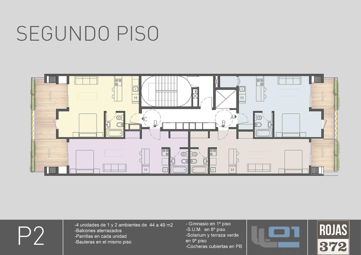 emprendimiento venta - 1, 2 y 3 ambientes - rojas 372 - caballito - pozo