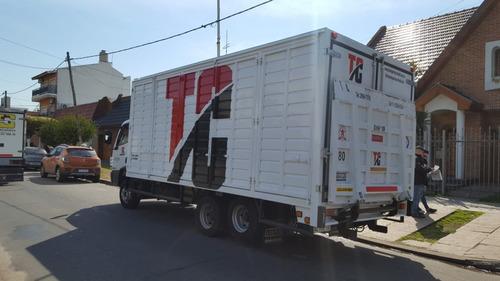 empresa flete camión con pala hidráulica balancin 24 hs