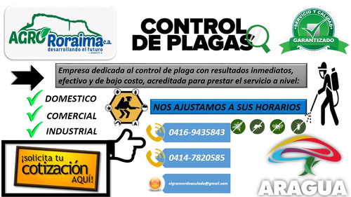 empresa servicio control integral plaga fumigacion maracay
