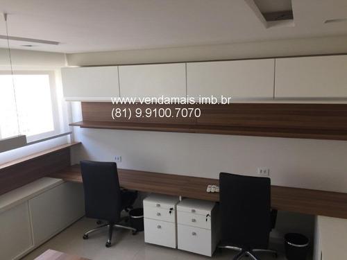 empresarial green tower, sala mobiliada para locação, 32m², 01 vaga - c010091 - 32236591