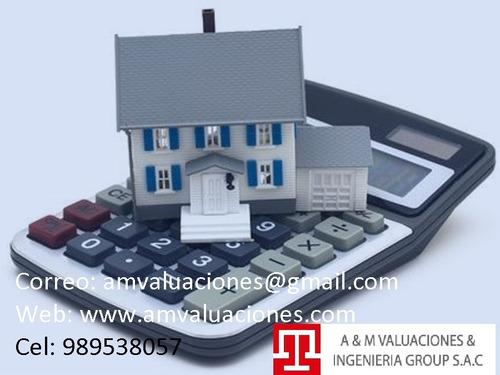 empresas de tasaciones terrenos,casas,depas, máquinas,vehíc.
