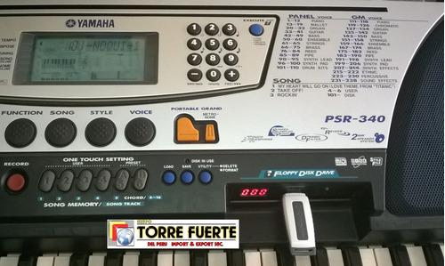 emulador, adaptador de disquete a usb yamaha psr-340