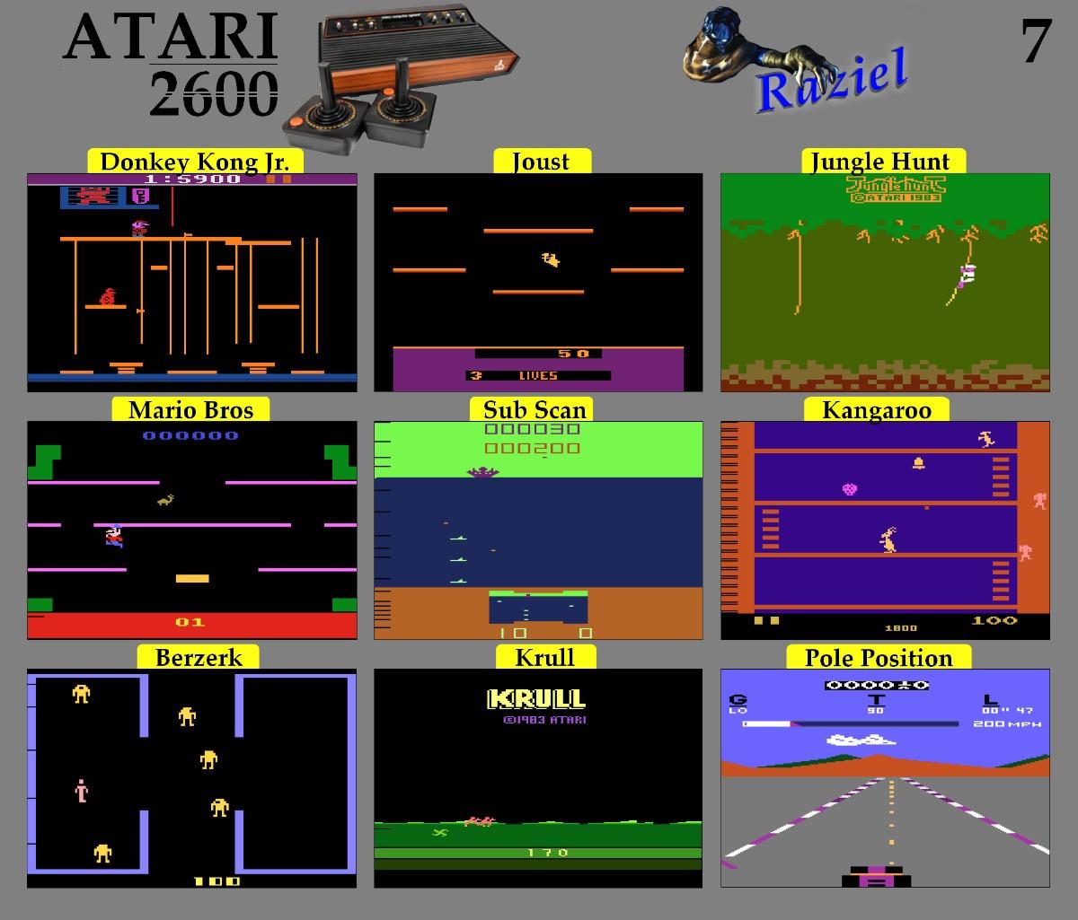 Emulador De Juegos Atari 2600 Para Pc Y Flashback Portable