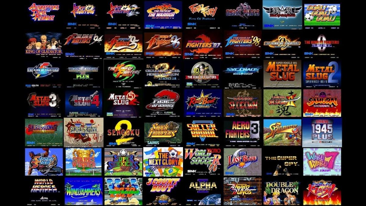Emulador De Neo Geo Com Todos Os Jogos (327 Roms) Para Pc
