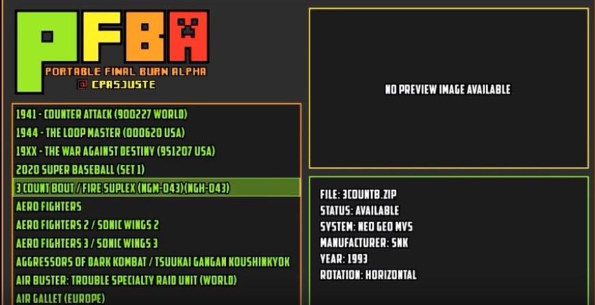 Final Burn Alpha Neo Geo Bios
