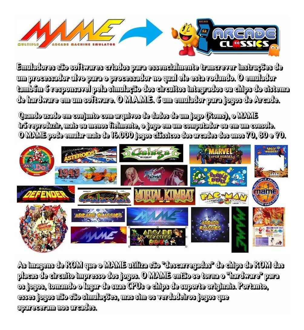 Emulador Mame 600 Patchs P/ Play3 E Pc Frete Gratis
