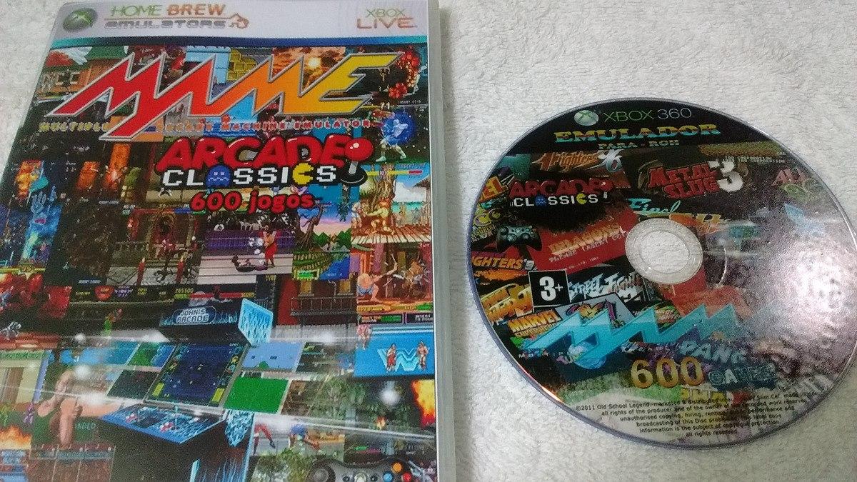 Emulador Mame 602 Games P/ X-box Rgh Dvd