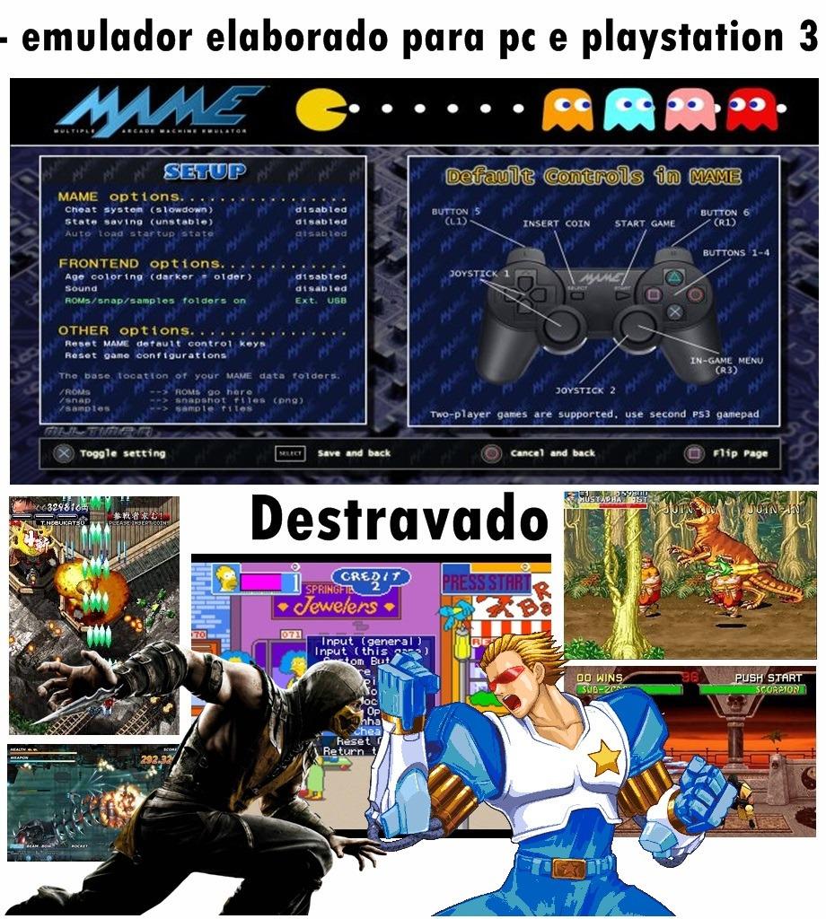 Emulador Mame 6 841 Games Para Pc Envio Digital