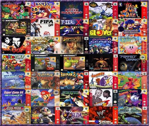 emulador nintendo 64 n64 -coleccion de mas de 40 juegos