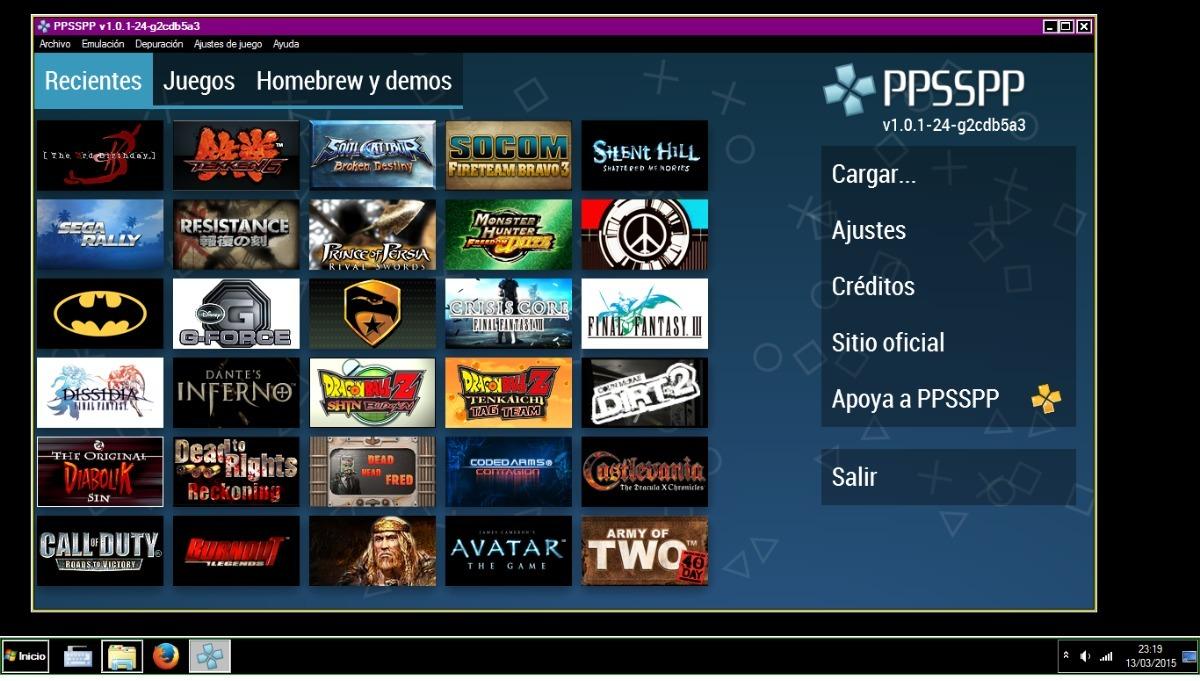 Emulador Ppsspp - Bs. 5.000,00 en Mercado Libre