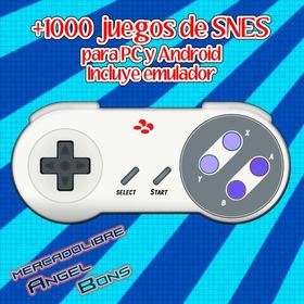 Emulador Super Nintendo Snes + 1000 Juegos Pc Y Android
