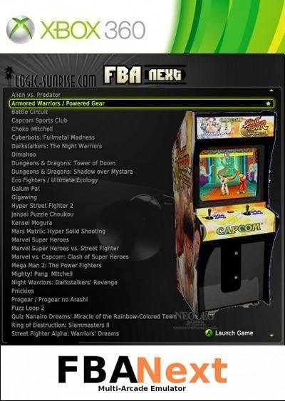 Emulador Triple Fba Next God Xbla Rgh ( Roms Incluidos)