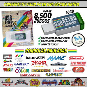 Emulador Usb Retro Gamer Mas De 8500 Juegos Clasicos Arcade