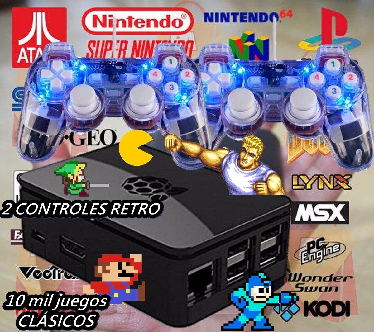 Emuladora 10 Mil Juegos Maquinitas 2 Controles Inalambricos