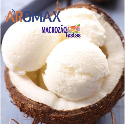 emulsão para sorvete aromax coco 240g  só aqui