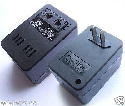en ca 120v-110v a 220v 100w transformador corriente cargador
