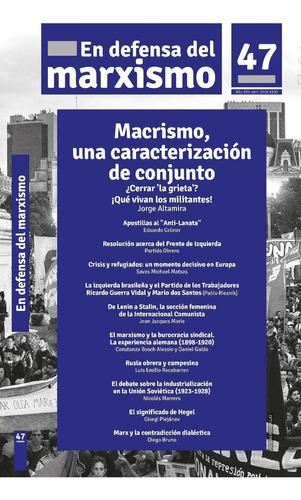 en defensa del marxismo #47 revista partido obrero