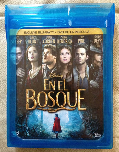 en el bosque in to the woods de disney blu ray + dvd nuevo