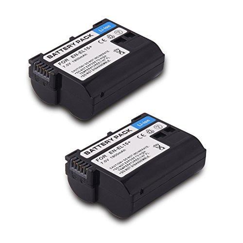 en el15 batería en-el15 (paquete de 2) batería de iones de l
