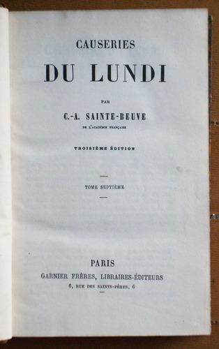 en francés: causeries du lundi (tomo 7) / sainte beuve
