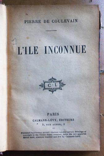 en francés: l' ile inconnue / pierre de coulevain
