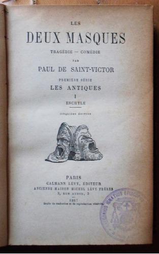 en francés: les deux masques (2 tomos) / saint victor