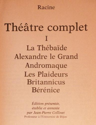 en francés: theatre complet 1 / racine