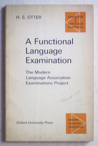 en inglés: a functional language examination / otter (1968)