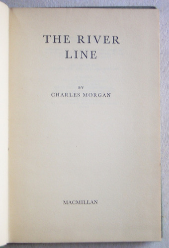 en inglés: the river line / charles morgan (1971)