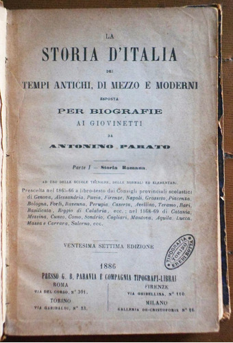 en italiano: la storia d' italia (parte 1) / antonino parato