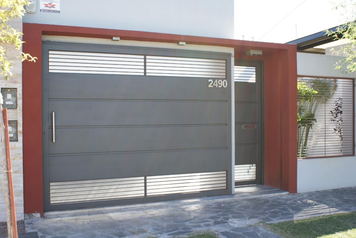 En la plata herreria portones puertas rejas def 1 for Puertas de entrada modernas minimalistas