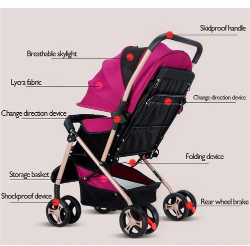 en las cuatro ruedas plegable cochecito cochecito de bebé