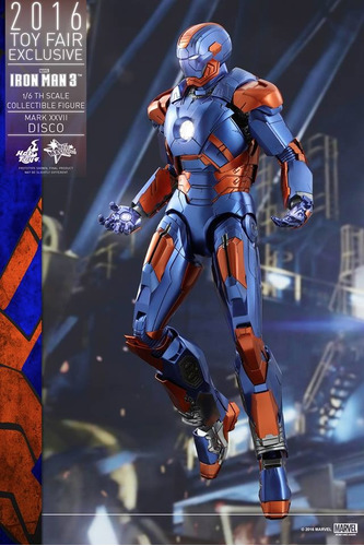 en mano hot toys iron man 3 mark 27 disco 1/6