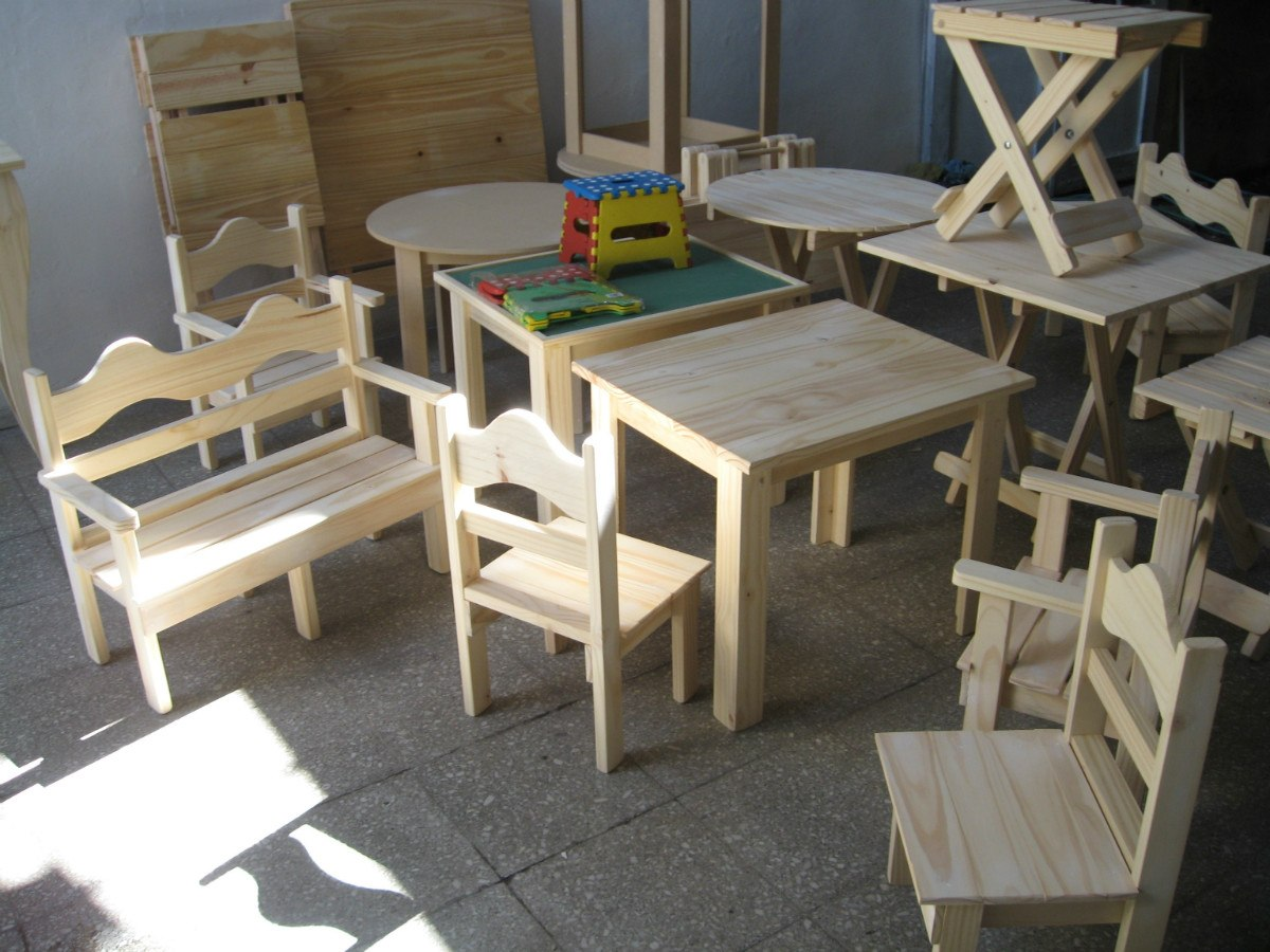 En Nuñez. Mesa Y 2 Sillas Infantiles P/ Chicos, Madera Pino - $ 650 ...