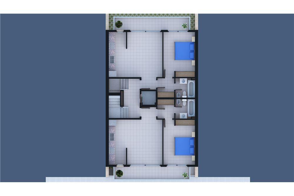 en pozo  2 ambientes con cochera y baulera