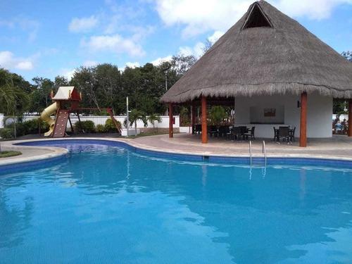 en renta hermosa casa semi-amueblada en residencial bali, playa del carmen p3152