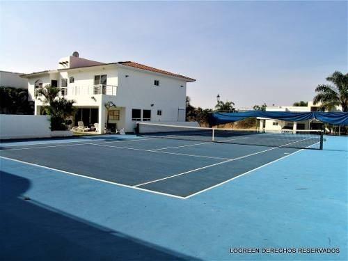 en venta bonita casa de descanso  con cancha de tenis