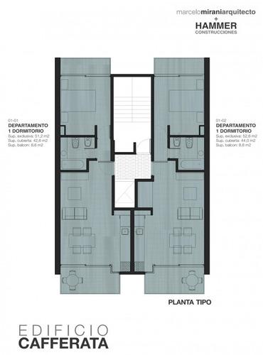 en venta desde el pozo dpto. de un dormitoriosemipisos  sup exclusiva.42,6 m2 exclusivosbalcon 8,6 m2 -