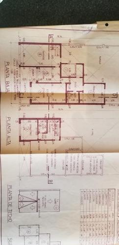 en venta en ciudad jardin chalet sobre lote 10x21 cubiertos 150m2; 4 ambientes 2 baños tomo depto en parte de pago f: 7732