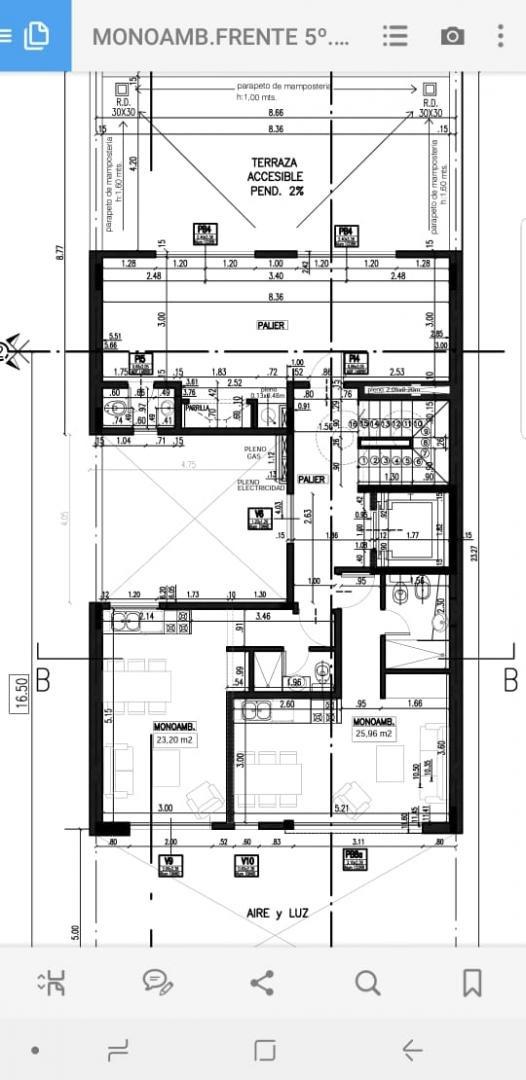 en venta en el palomar departamento de 1 ambiente en 5to piso monoambiente de 25m2 a estrenar entrega diciembre de 2019 f: 7698