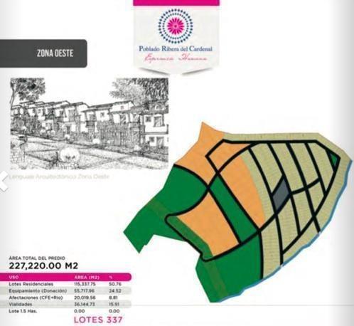 en venta terrenos con vista al lago de chapala 1,597 m2