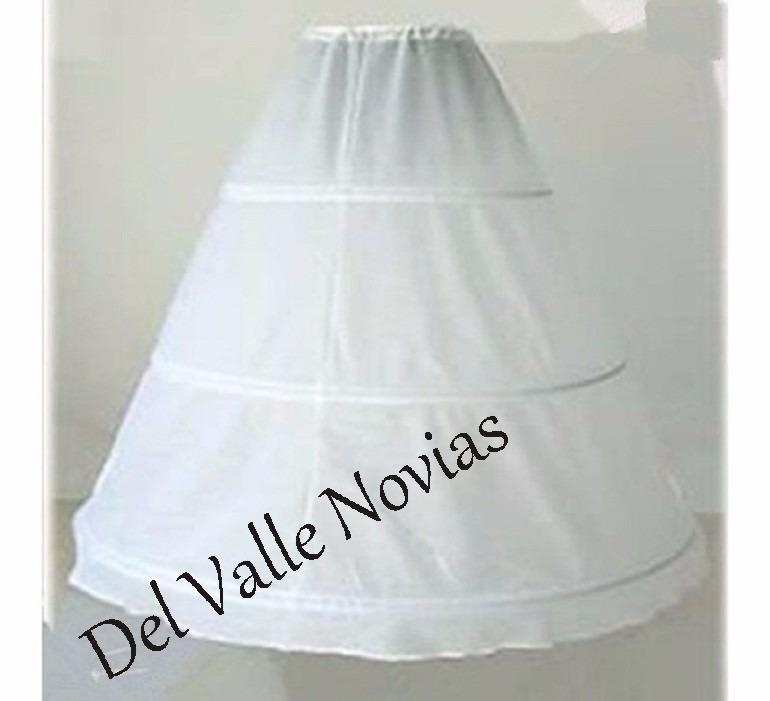 enaguas con 3 aros para vestido de novia o 15 - $ 420,00 en mercado