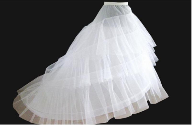 enaguas con cola para vestido de novia, can can, crinolina