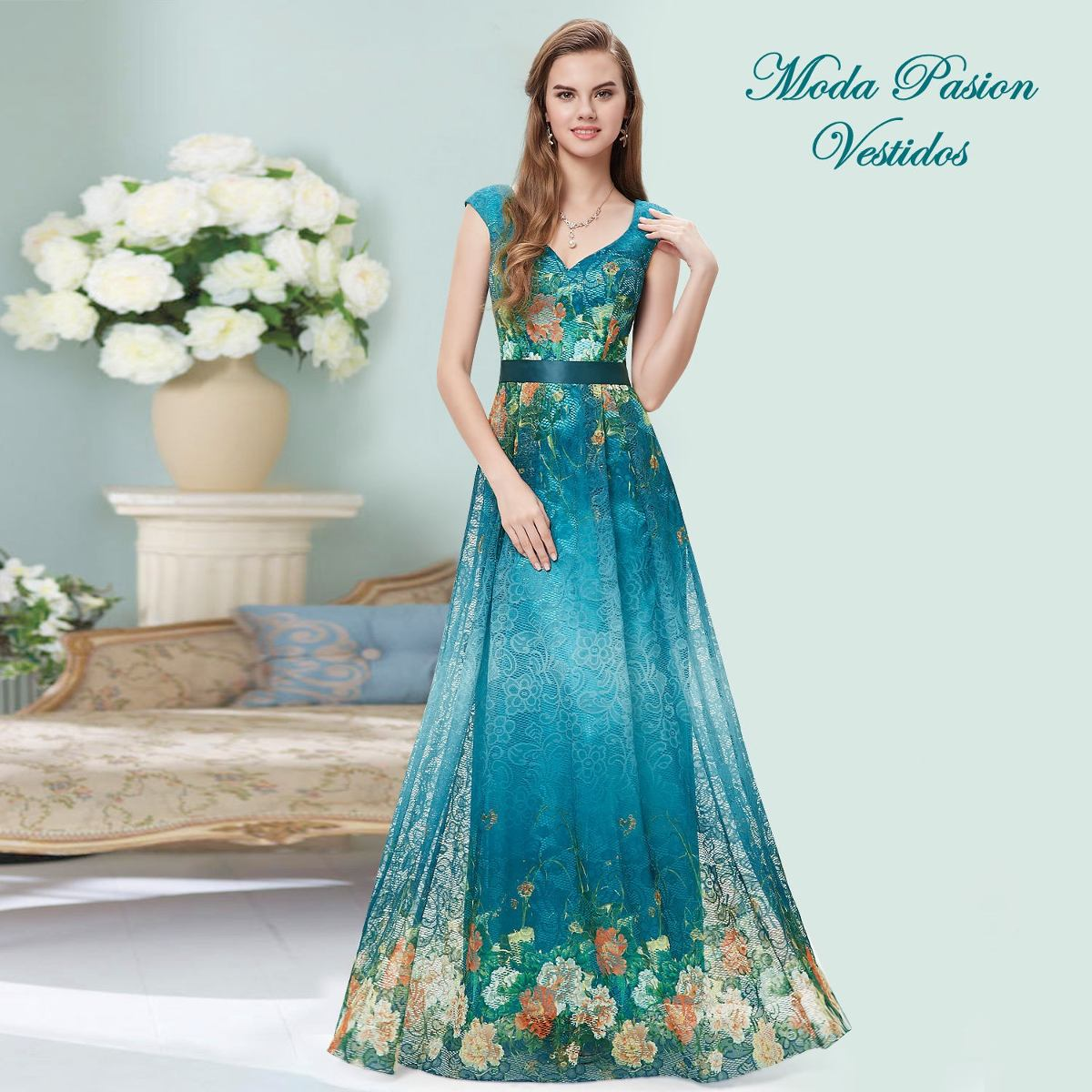 Vestidos estampados largos – Moda Española moderna 2018
